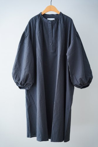 michirico Striped dress(Black)