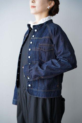 si-si-si comfort denim jacket (indigo)