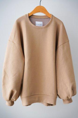 si-si-si comfort Volume sleeve sweatshirt (beige)