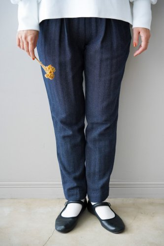 si-hirai Tweed pants (Navy)