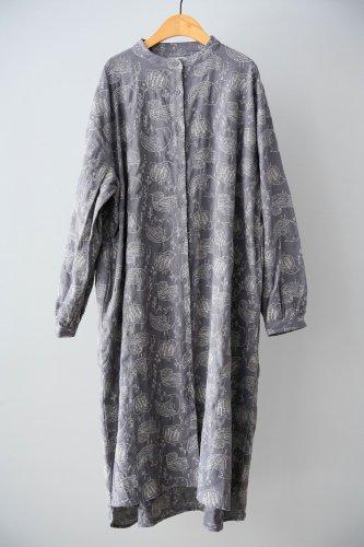 LILOU+LILY Embroidery shirt dress (Gray)