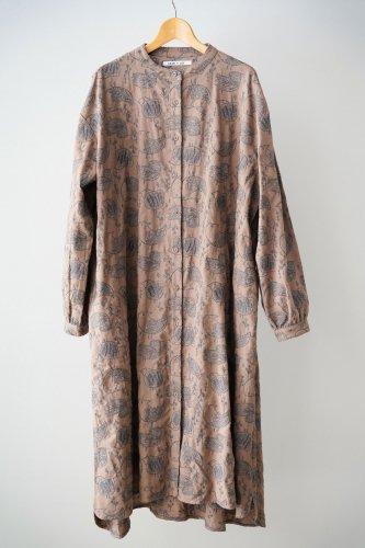 LILOU+LILY Embroidery shirt dress (Beige)