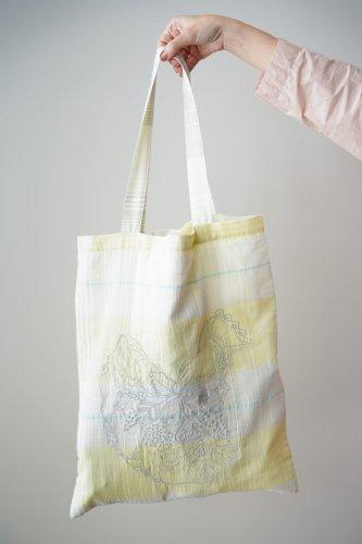 mudoca  Embroidery eco bag(Yellow)
