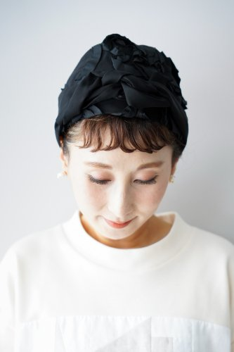 mudoca Tape embroidery Hair band (Black)