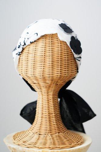 mudoca motif Hair band (Off×Black)