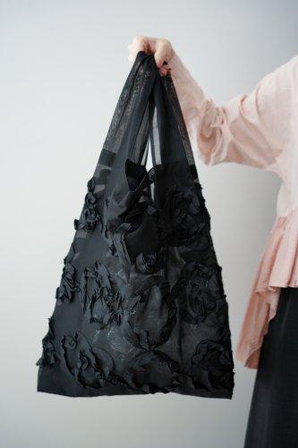 mudoca Tape embroidery Bag (Black)-L-size