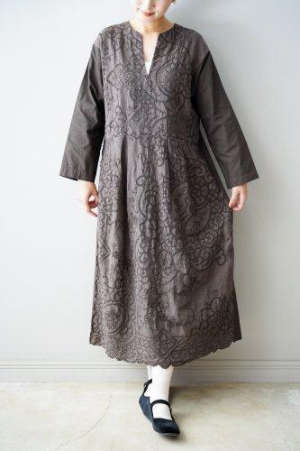 Heriter Tablecloth remake dress(Brown)