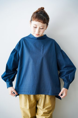 ASEEDONCLOUD Stand collar pullover(Indigo blue)