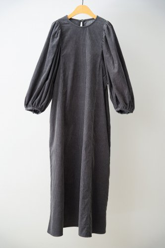 GALARIE TISSU Corduroy dress(Charcoal)