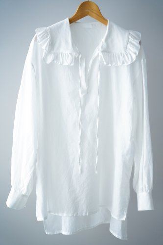 Heriter Ruffle color pullover(White)