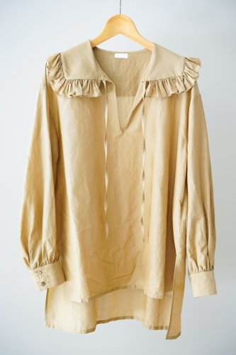 Heriter Ruffle color pullover(Camel)