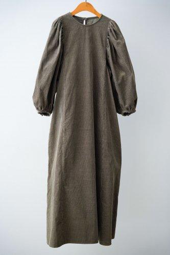 GALARIE TISSU Corduroy dress(Dark khaki)