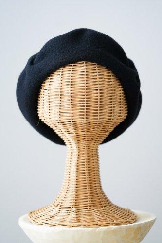 バラ色の帽子 beret(Black)