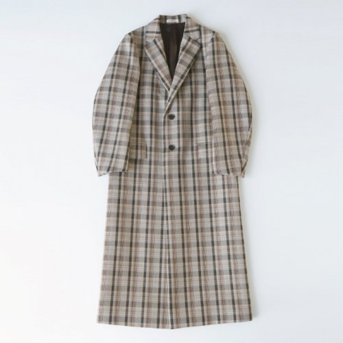 DOUBLE FACE CHECK CHESTER FIELD COAT