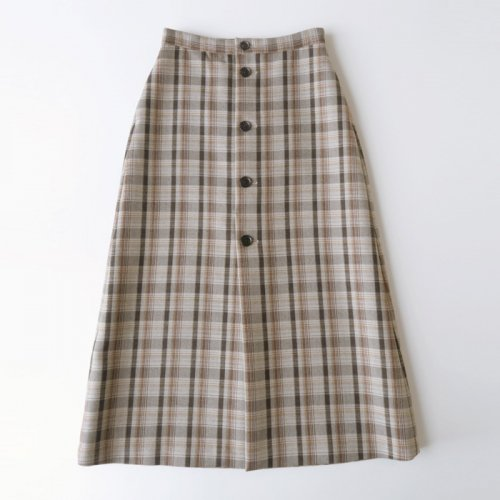 DOUBLE FACE CHECK SKIRT