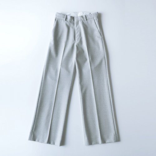 WIDE STRAIGHT PANTS FLANNEL