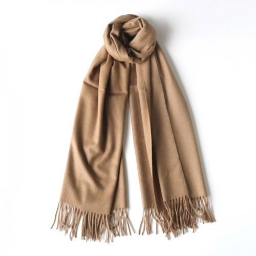 BABY CAMEL HAIR WIDE STOLE