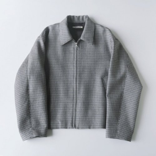 DOUBLE FACE CHECK ZIP BROUSON (MENS)