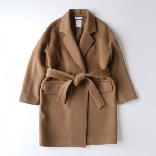 REVER BELTED LONG JACKET BEAVER