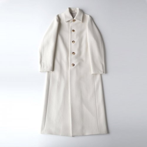 WOOL SILK MELTON MAXI COAT