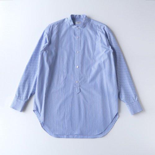 ストライプバンドカラーシャツ