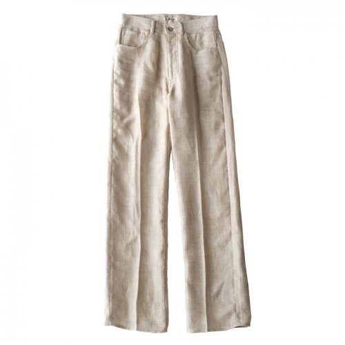 LINEN DOUBLE FACE 5P PANTS