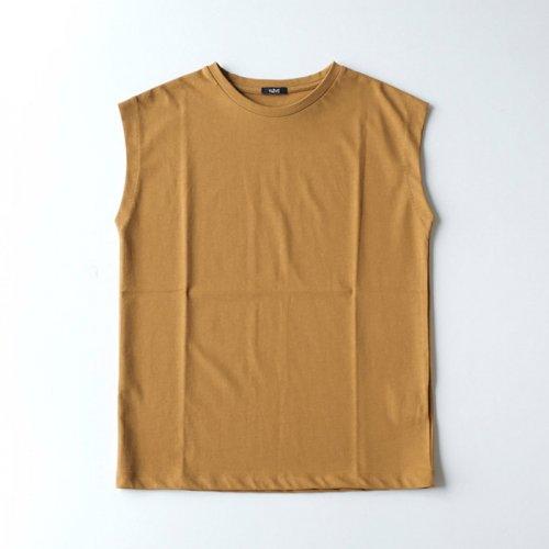 オーガニックコットンノースリーブTシャツ