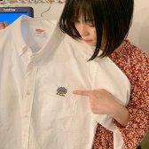 刺繍ハミーさん オックスフォード ボタンダウンシャツ
