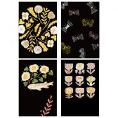 MAKOTO KAGOSHIMA 図案ポストカード (ブラック)