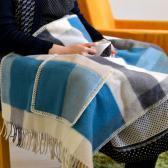 LAPUAN KANKURIT Shawl with Pockets PALAPELI (tuequoise)