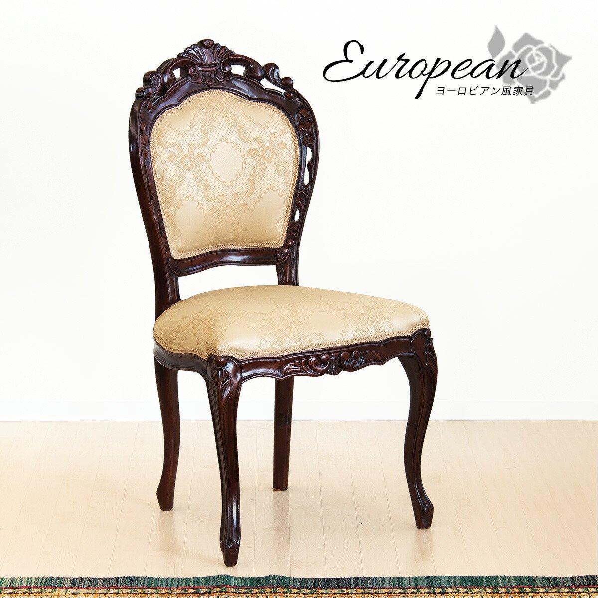 マホガニー アンティーク 肘無し チェアー 椅子