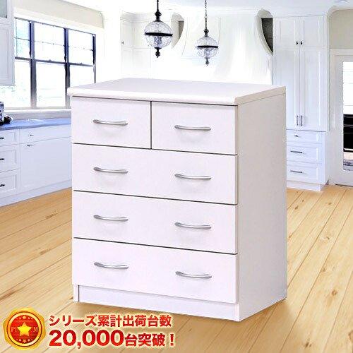 ピュアホワイトシリーズ[BRANCO(ブランコ)] 幅60cm チェスト 収納 引出し 【SB23681】