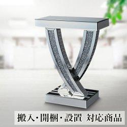 開梱設置 テーブル 幅60cm コンソールテーブル 輸入 リビング 玄関 テーブル 完成品 エレガント 花瓶台 美しいコンソール 鏡
