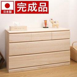 日本製 完成品 桐クローゼット3段 天然桐材使用 和風衣類収納