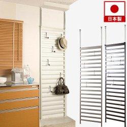 日本製 突っ張りパーテーション 幅60cm 薄型 パーティション ハンガーラック 壁面収納