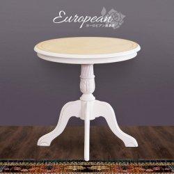アンティーク風 ホワイト テーブル [ ヨーロピアン 木製 レトロ クラシックテーブル]