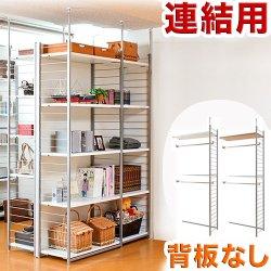 突っ張り壁面間仕切りワードローブ幅88cm 連結用 背板無しタイプ
