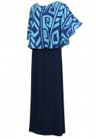 Tahiti Cape ドレス (ブルー)