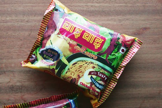 ネパールの即席ラーメン ワイワイヌードル(チキン味)