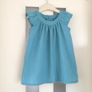 子供服型紙  KP-160 丸ヨークのチュニックワンピース