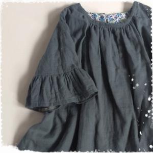 子供服型紙 KP-163 ギャザーワンピース☆アレンジいろいろ