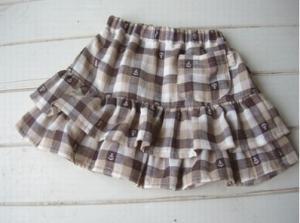 子供服型紙 KP-68 2段フリルスカート