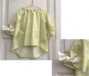 子供服型紙 KP-166  袖リボンのスモックブラウス