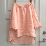 婦人服、子供服型紙 KP-166  袖リボンのスモックブラウス