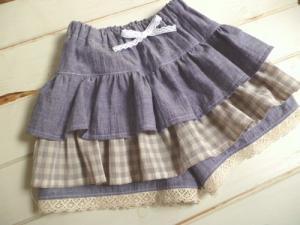 子供服型紙  KP-108  アレンジいろいろ☆フリルのキュロット