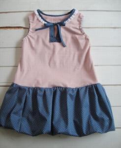子供服型紙/婦人服型紙 KP-110 バルーンスカートのワンピース