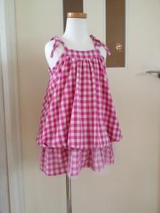 子供服型紙 KP-128  バルーンのキャミワンピ(チュールでアレンジ!)