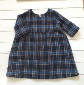 子供服型紙  KP-138 七分袖のギャザーワンピース