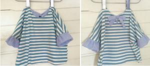 子供服型紙  KP-151   袖バルーンのカットソー&ワンピース