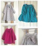 子供服型紙  KP-154 ボーカラーのワンピース(スタンドカラー、ブラウスへのアレンジも♪)